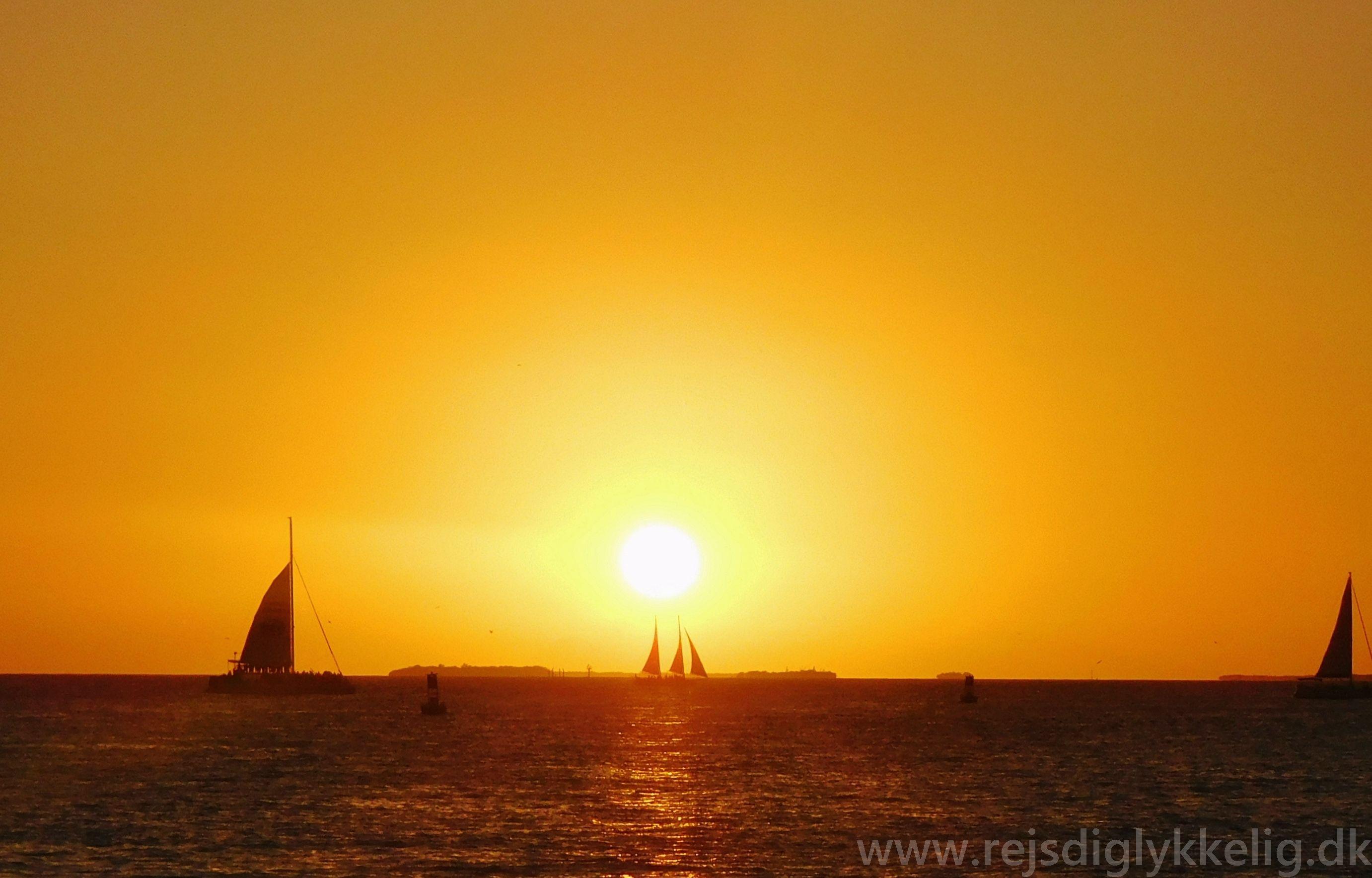 Den verdensberømte solnedgang på Sunset Pier i Key West