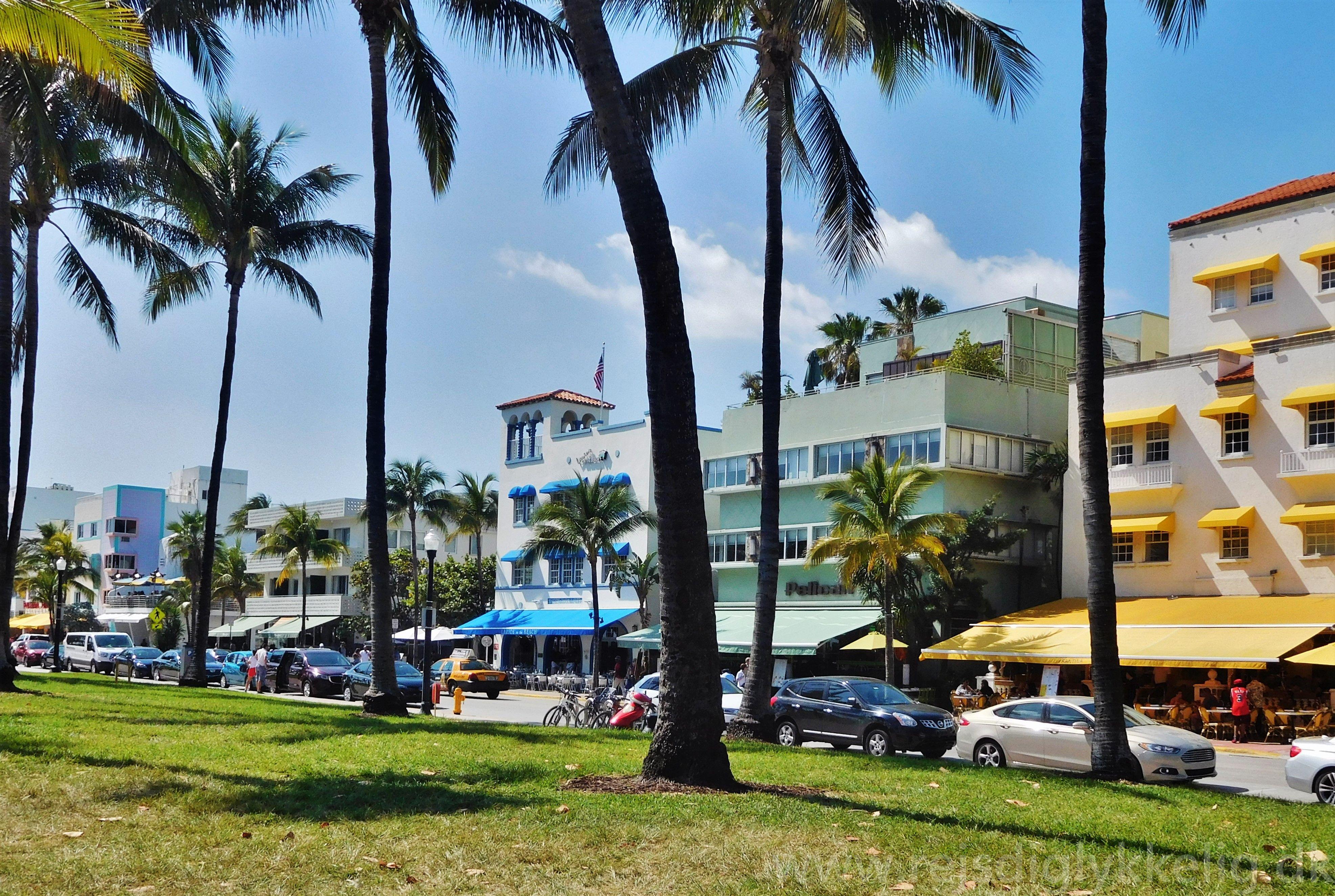 Lummus Park ved Ocean Drive i Miami