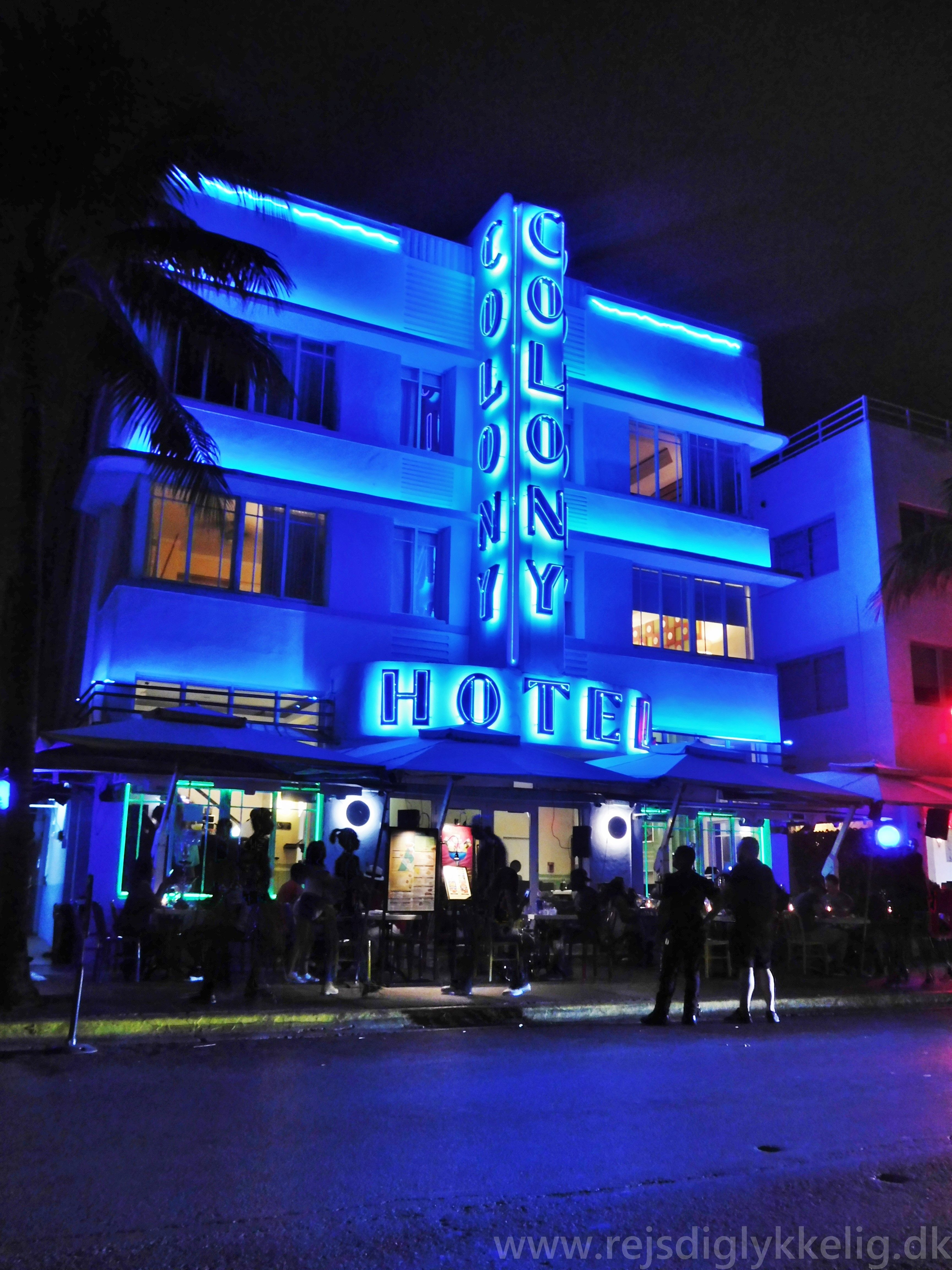 Colony Hotel på Ocean Drive i Miami