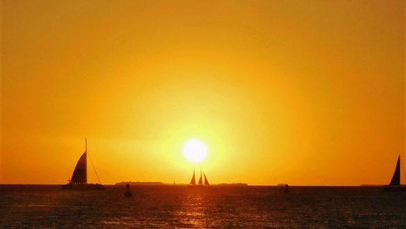 Fotodagbog fra Florida - Solnedgang på Sunset Pier i Key West - Rejsdiglykkelig.dk