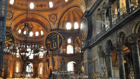 Fotodagbog fra Istanbul - Inde i Hagia Sophia Moskeen - Rejsdiglykkelig.dk