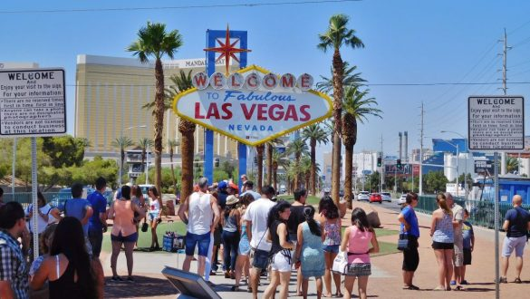 Fotodagbog fra Las Vegas - Welcome to fabulous Las Vegas Nevada skiltet - Rejsdiglykkelig.dk