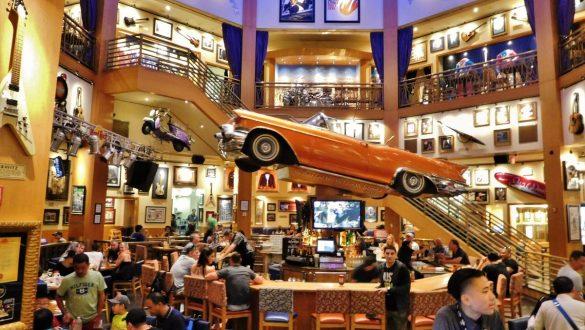 Fotodagbog fra Los Angeles - Hard Rock Cafe på Universal CityWalk - Rejsdiglykkelig.dk
