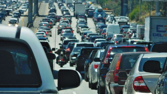 Fotodagbog fra Los Angeles - Lange bilkøer på motorvejene i LA - Rejsdiglykkelig.dk