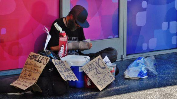 Fotodagbog fra Los Angeles - Mange hjemløse på gaden i LA - Rejsdiglykkelig.dk