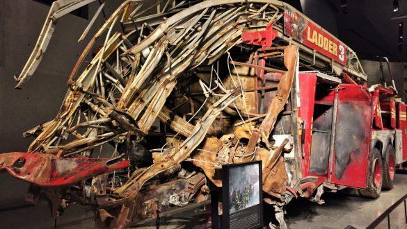 Fotodagbog fra New York - Brandbil som blev brugt under 911 angrebet - Rejsdiglykkelig.dk