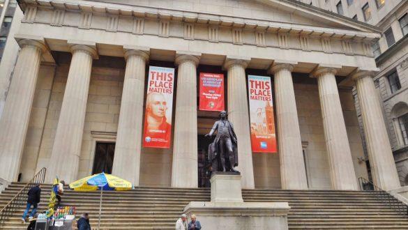 Fotodagbog fra New York - Federal Hall - Stedet hvor USAs første præsident trådte til - Rejsdiglykkelig.dk