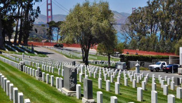 Fotodagbog fra San Francisco - Kirkegård med udsigt til Golden Gate - Rejsdiglykkelig.dk