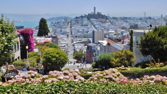 Fotodagbog fra San Francisco - Lombard Street - Rejsdiglykkelig.dk