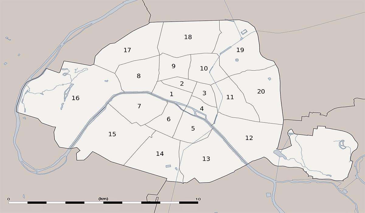 Bydele i Paris - Beskrivelse af de 20 arrondissementer - www.rejsdiglykkelig.dk