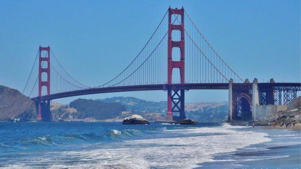 Dagsprogram i det vestlige USA - Golden Gate Bridge i San Francisco - www.rejsdiglykkelig.dk