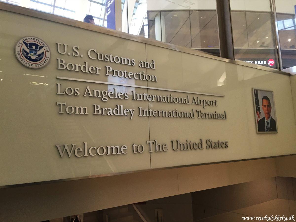 Forløbet i lufthavnen i USA - LAX Airport - Rejsdiglykkelig.dk