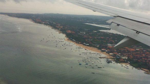 Fotodagbog fra Ubud - Flyet på vej til Bali - Rejsdiglykkelig.dk