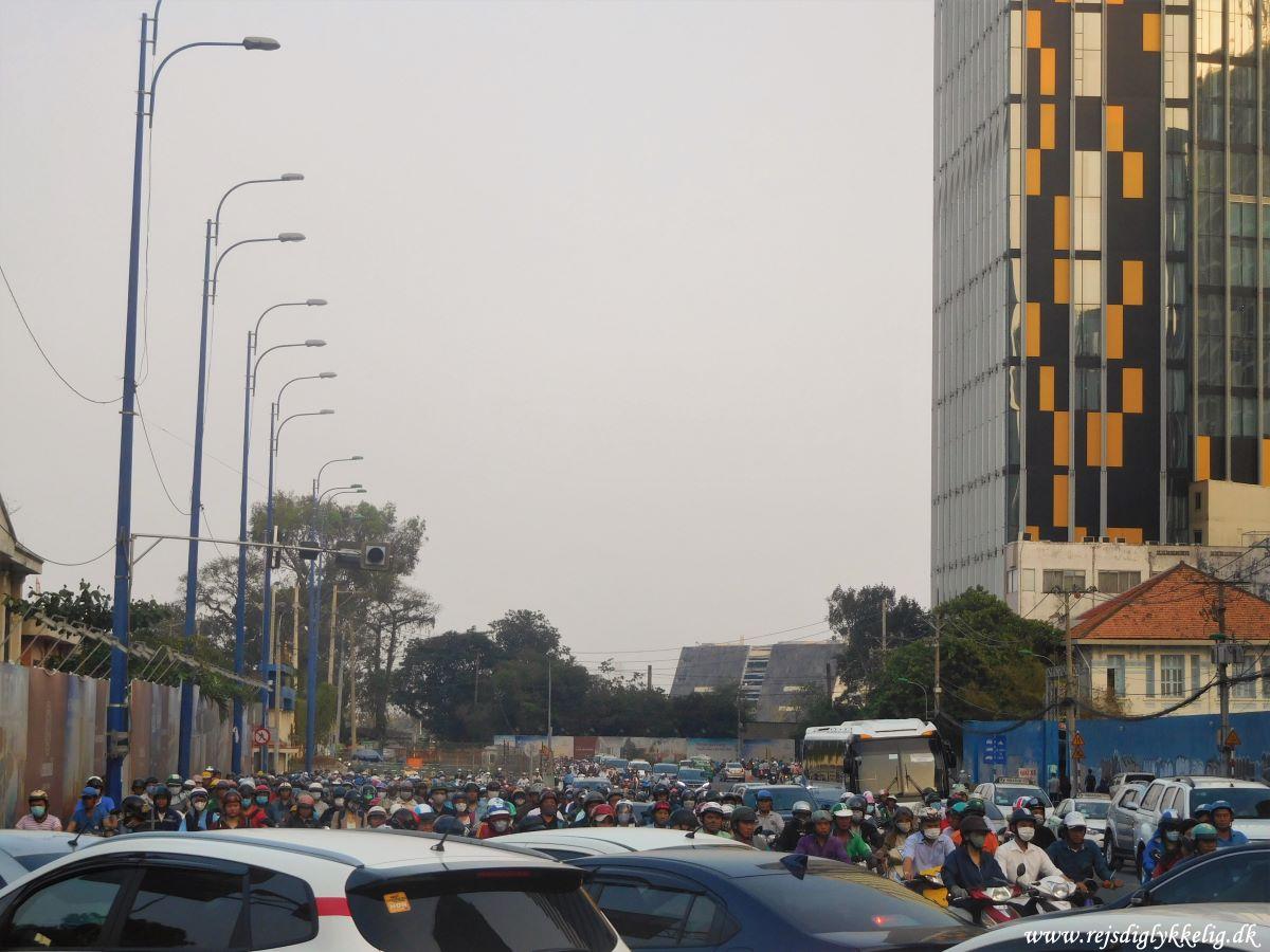 Tilbageblik på 2019 - Kaotisk trafik i Ho Chi Minh City - Rejsdiglykkelig.dk