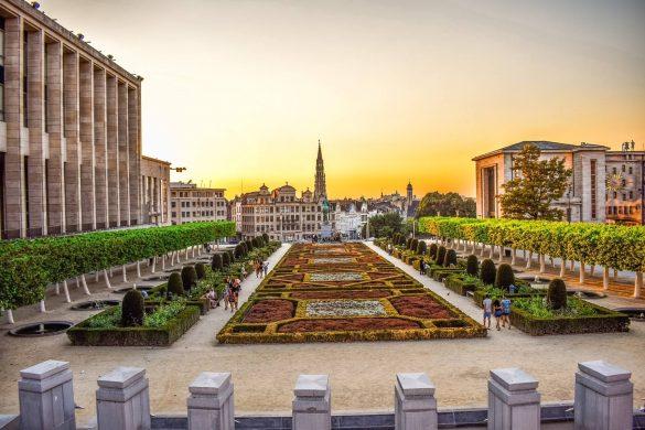 10 Bedste Oplevelser i Bruxelles - Mont des Arts - Rejs Dig Lykkelig