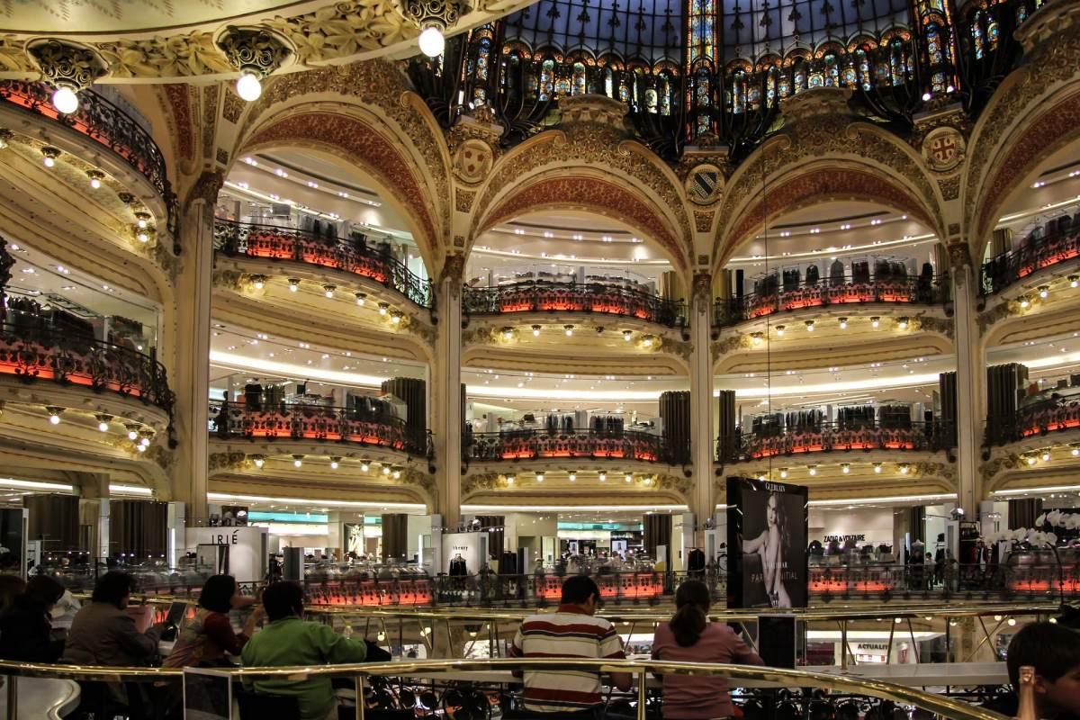 Shopping i Paris - Galeries Lafayette - Rejs Dig Lykkelig
