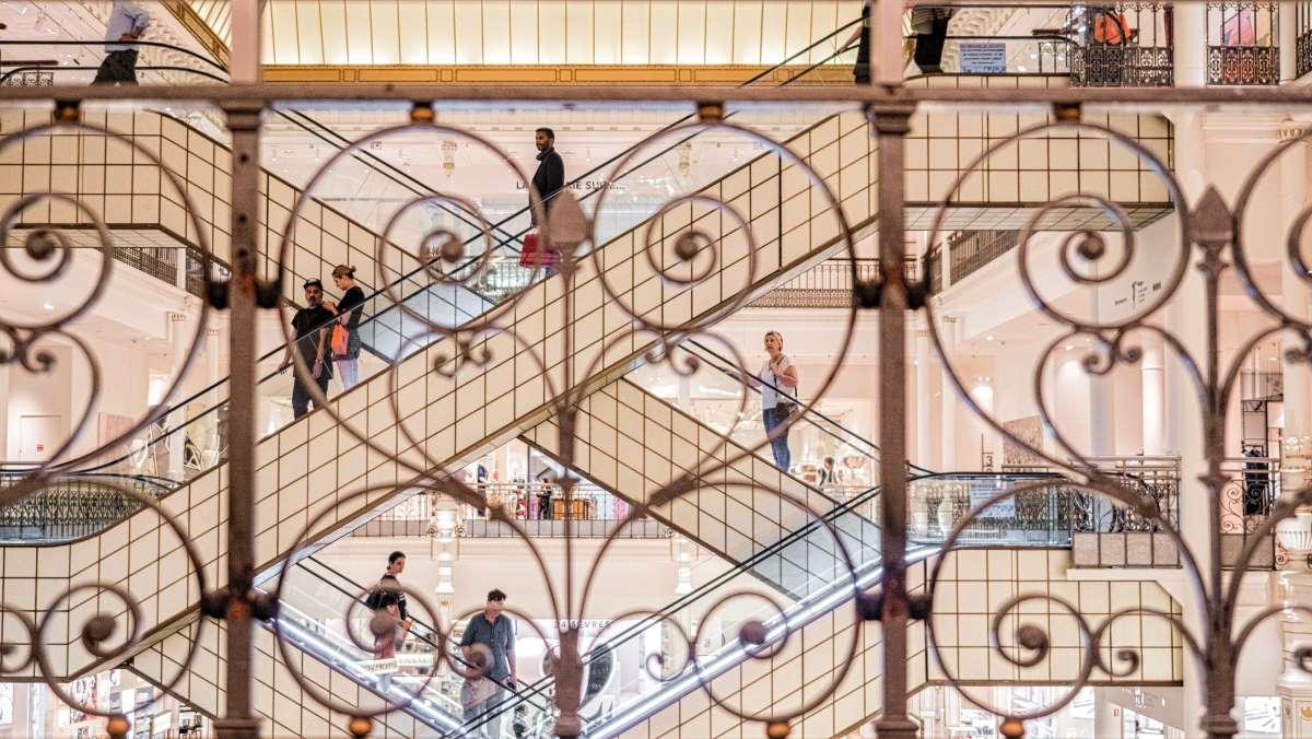 Shopping i Paris - Le Bon Marché - Rejs Dig Lykkelig