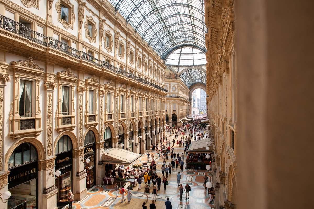 Galleria Vittorio Emanuele II i Milano - Rejs Dig Lykkelig